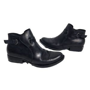 BORN handcrafted footwear black leather ankle boot